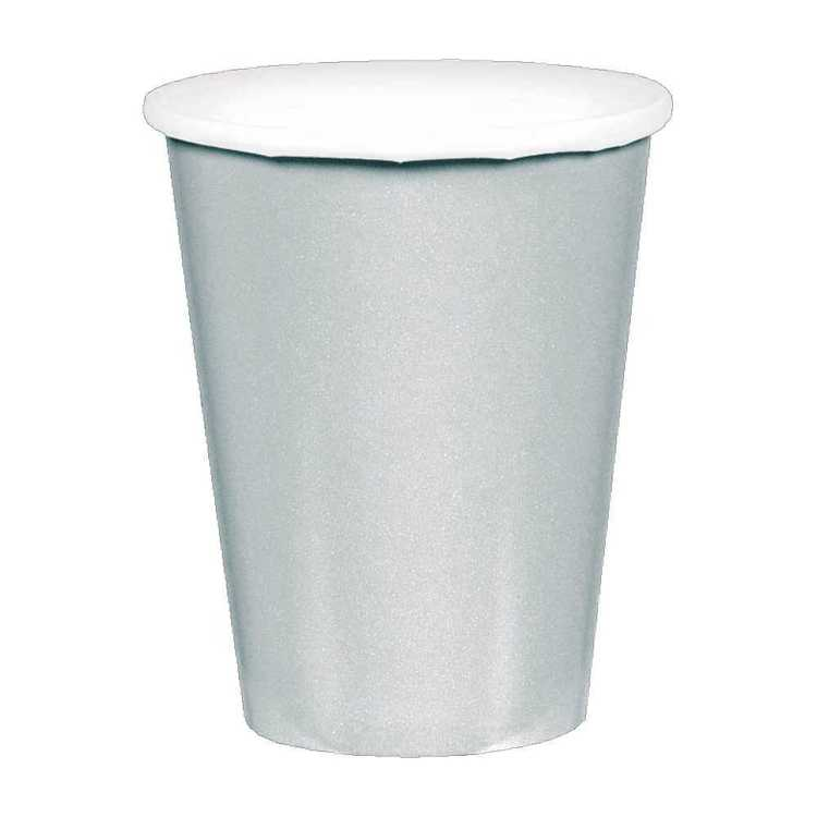 Amscan Silver Paper Cups 20 Pack