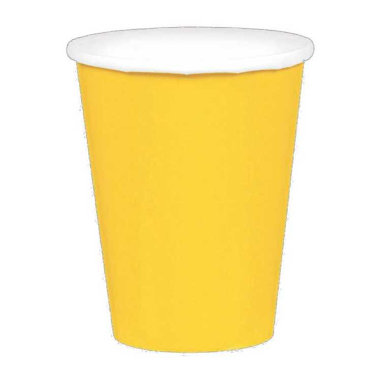 Amscan Yellow Paper Cups 20 Pack