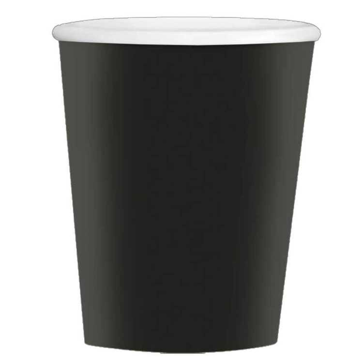 Amscan Big Party Pack Black Coffee Cups