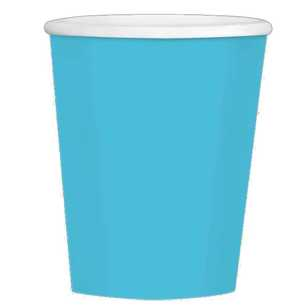 Amscan Big Party Pack Caribbean Blue Coffee Cups