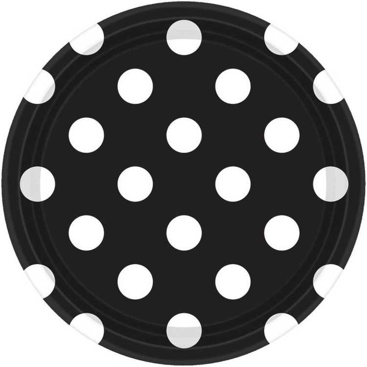 Amscan Dots 7 Inch Plate