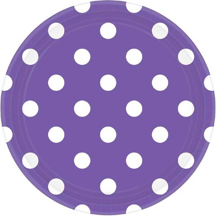 Amscan Dots 9 Inch Plate
