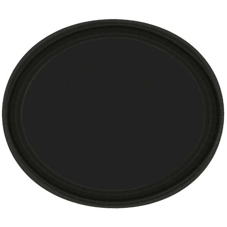 Amscan Black Oval Plate