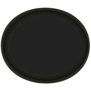 Amscan Black Oval Plate - Everyday Bargain
