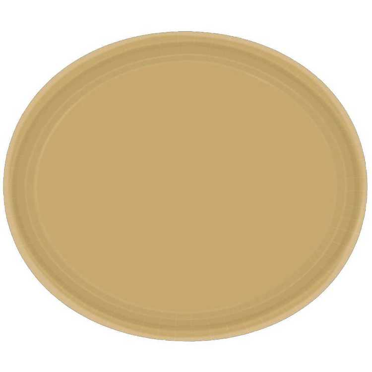 Amscan Gold Oval Plate