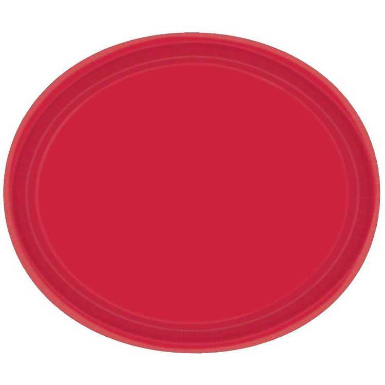 Amscan Red Oval Plate