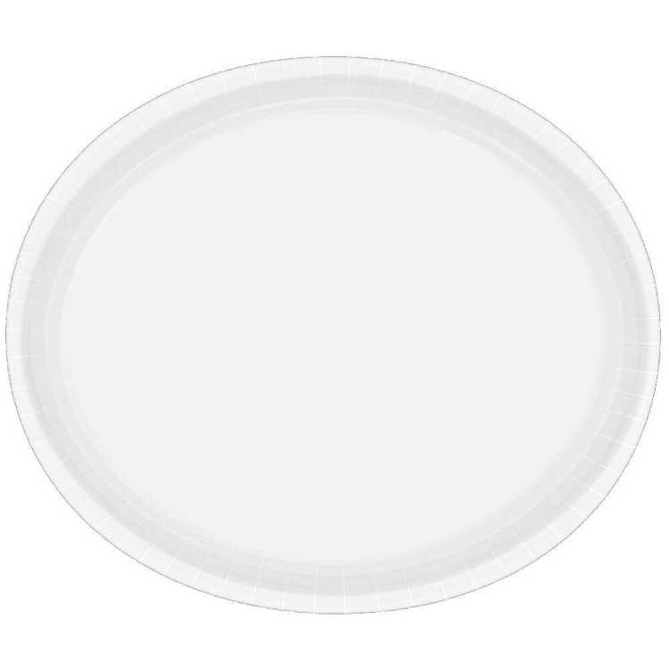Amscan White Oval Plate