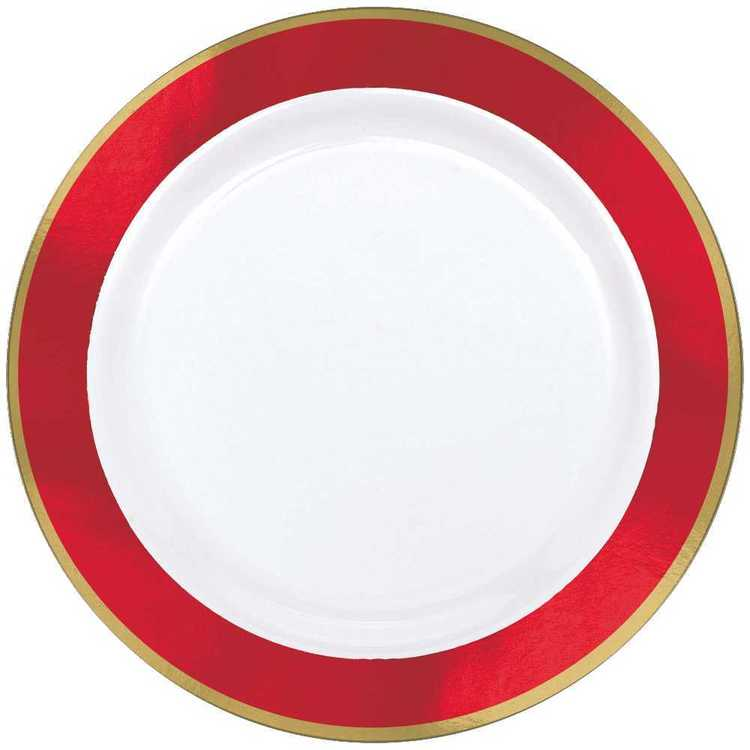 Amscan Premium Plate with Round Border