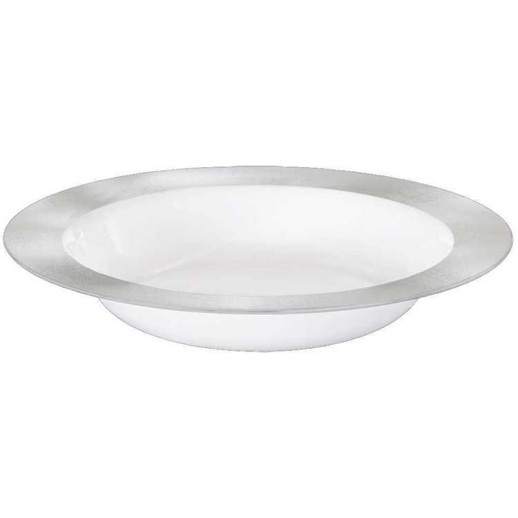 Amscan Premium White Bowl with Border