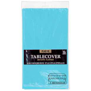 Amscan Blue Plastic Table Cover