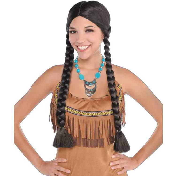 Amscan Western Braided Wig