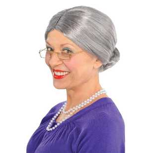 Amscan Old Lady Wig
