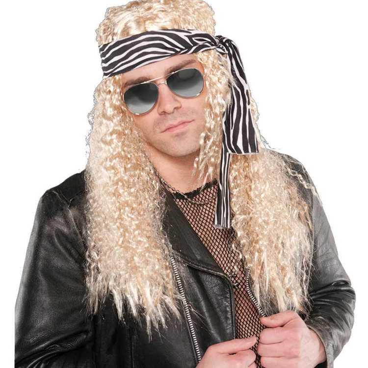 Amscan Kit Rock Star Wig