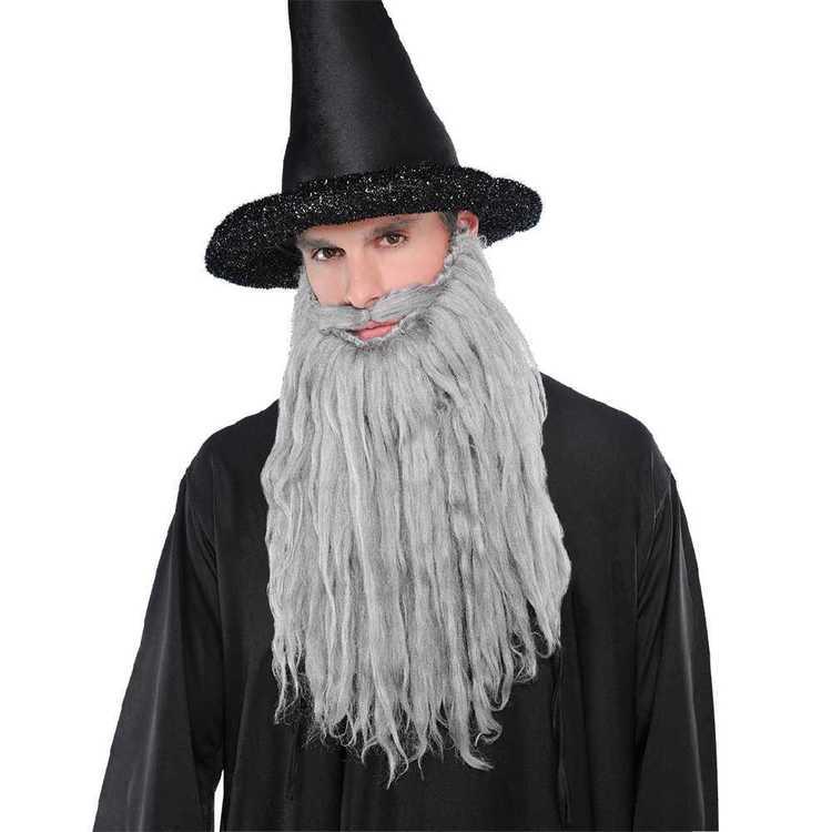 Amscan Grey Plush Moustache & Beard