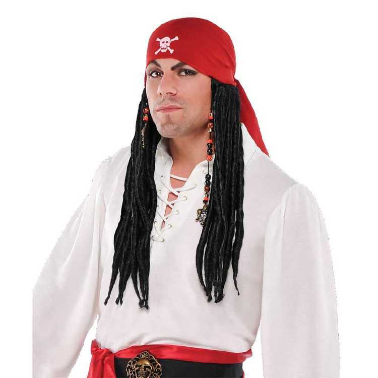 Amscan Pirate Bandana With Dreads Wig
