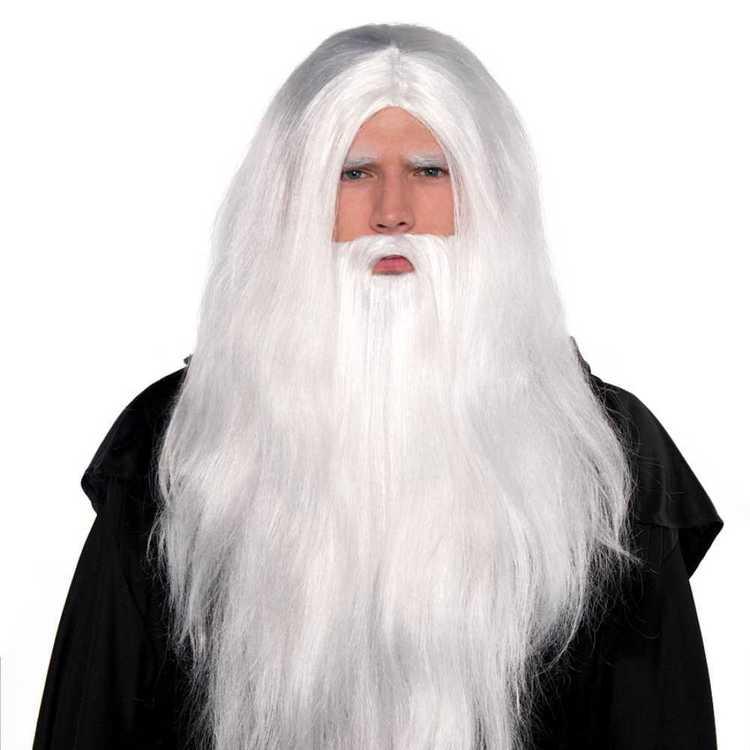 Amscan Sorcerer Wig And Beard Set