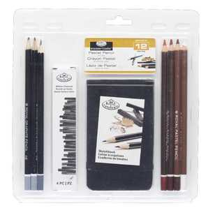Royal & Langnickel 3T Pastel Pencil Sketching Clamshell With Sketchbook