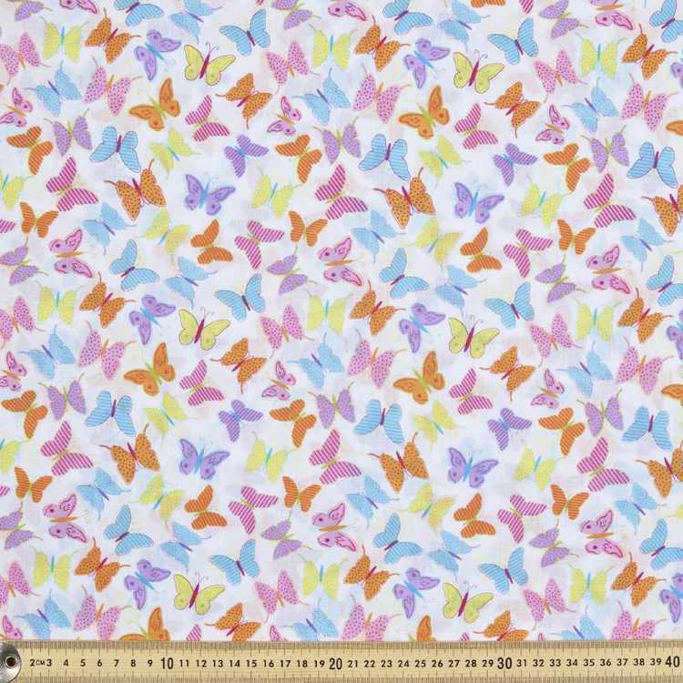 Mix N Match Butterflies Cotton Poplin Multicoloured 112 cm