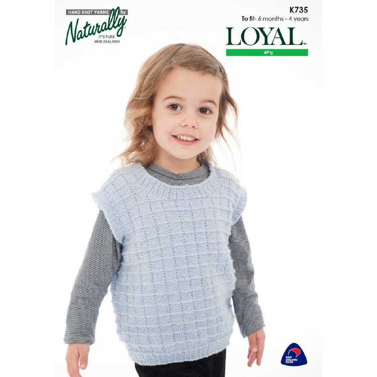 Naturally Loyal 4 Ply Girls Top K735 Pattern Book Multicoloured