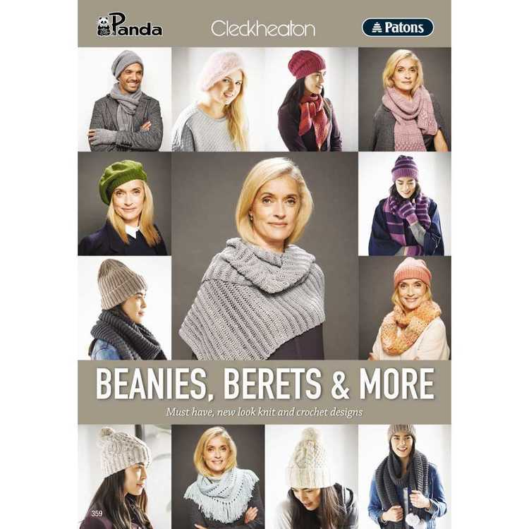 Various Beanies & Berets 359 Pattern Book
