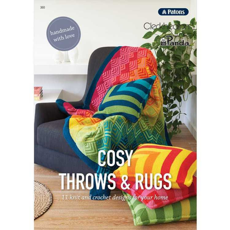 Various Cosy Throws & Rugs 360 Pattern Book