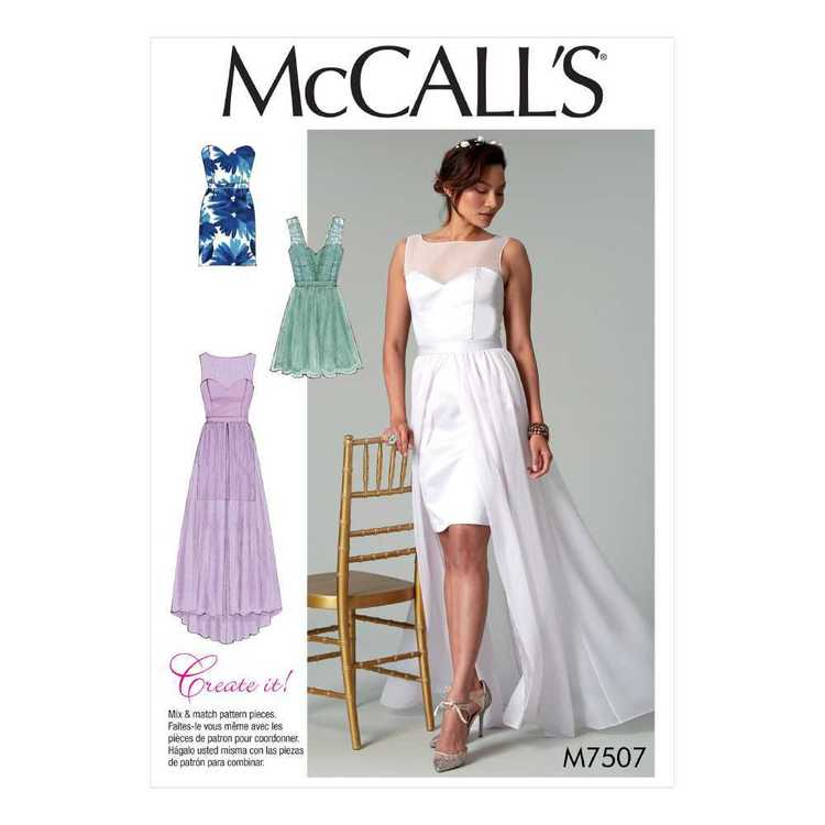 McCall's Pattern M7507 Misses' Mix-and-Match Sweetheart Dresses