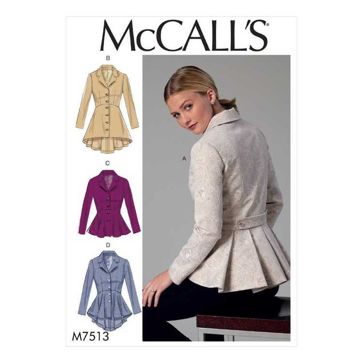 McCall's Pattern M7513 Misses' Notch-Collar