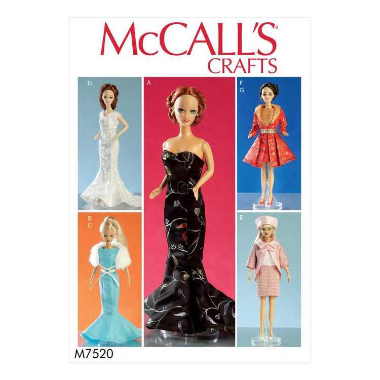 """McCall's Pattern M7520 Apparel for 11.5"""" Doll"""