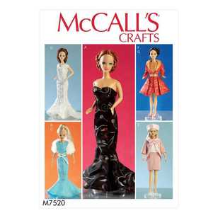 "McCall's Pattern M7520 Apparel for 11.5"" Doll"