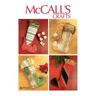 McCall's Pattern M7523 Christmas Stockings