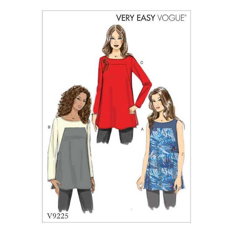 Vogue Pattern V9225 Misses Tunics