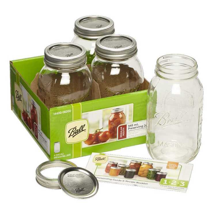 Ball Regular Quilted Jars 4 Pack