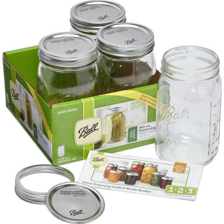 Ball Wide Mouth Jars 4 Pack