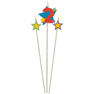 Amscan Star Pick No. 2 Birthday Candle