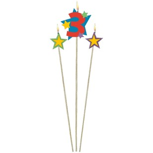 Amscan Star Pick No. 3 Birthday Candle