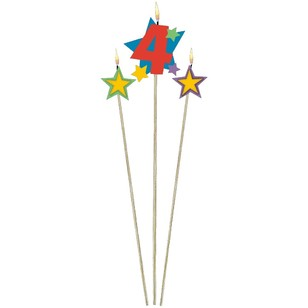 Amscan Star Pick No. 4 Birthday Candle