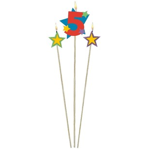 Amscan Star Pick No. 5 Birthday Candle