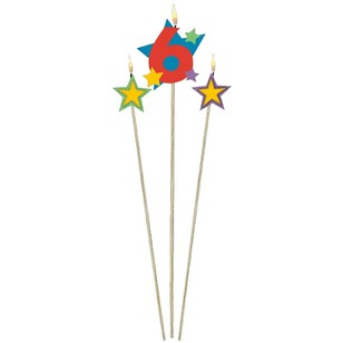 Amscan Star Pick No. 6 Birthday Candle