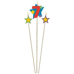 Amscan Star Pick No. 7 Birthday Candle