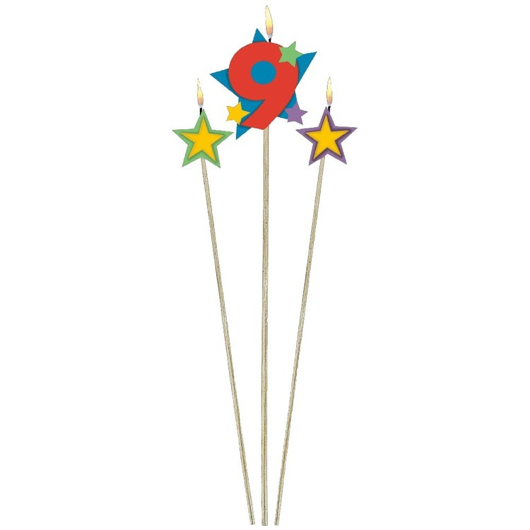 Amscan Star Pick No. 9 Birthday Candle