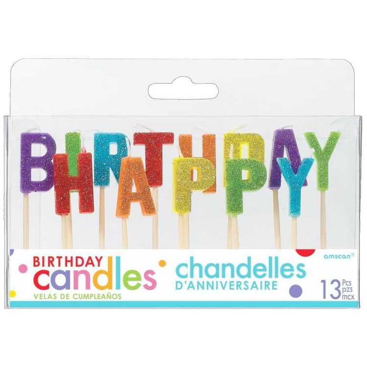 Amscan Happy Birthday Primary Pick Candles
