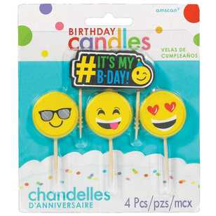 Amscan Emoji Icons Toothpick Candles
