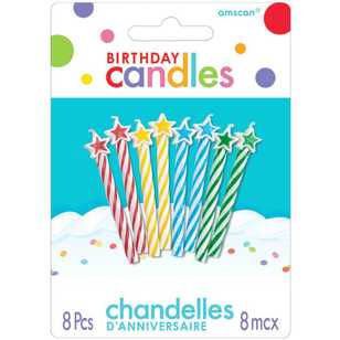 Amscan Spiral Candles With Stars