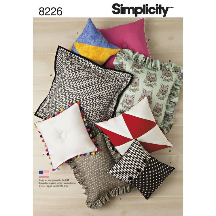Simplicity Pattern 8226 Easy Pillows