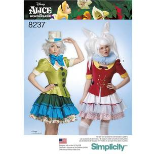 Simplicity Pattern 8237 Misses Alice in Wonderland Costume