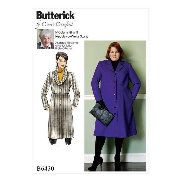 Butterick Pattern B6430 Misses'/Women's Empire-Waist Coat with Princess Seams