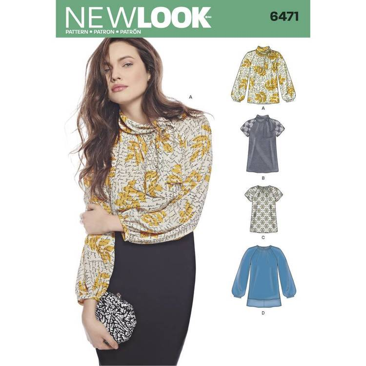 New Look Pattern 6471 Misses' Blouses & Tunics