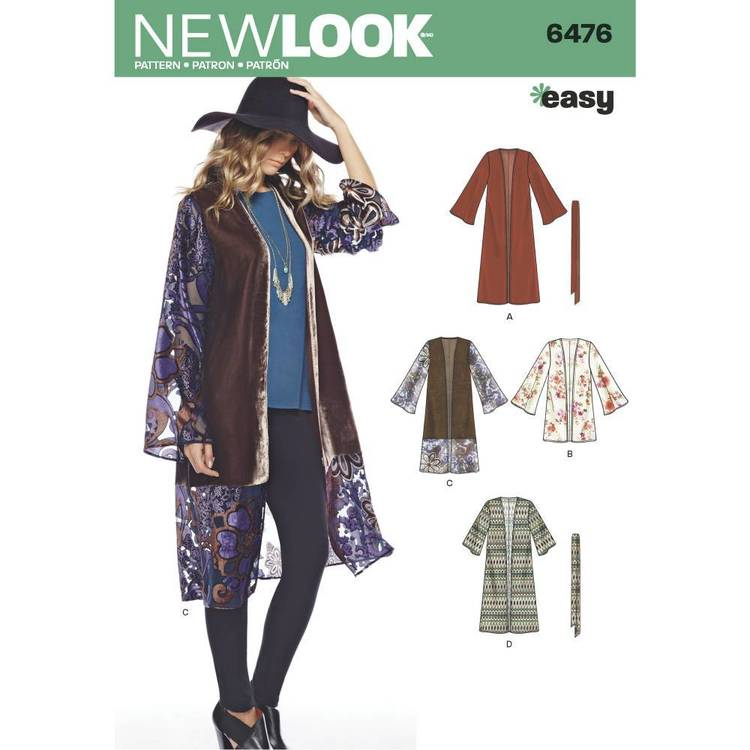 New Look Pattern 6476 Misses' Easy Kimonos