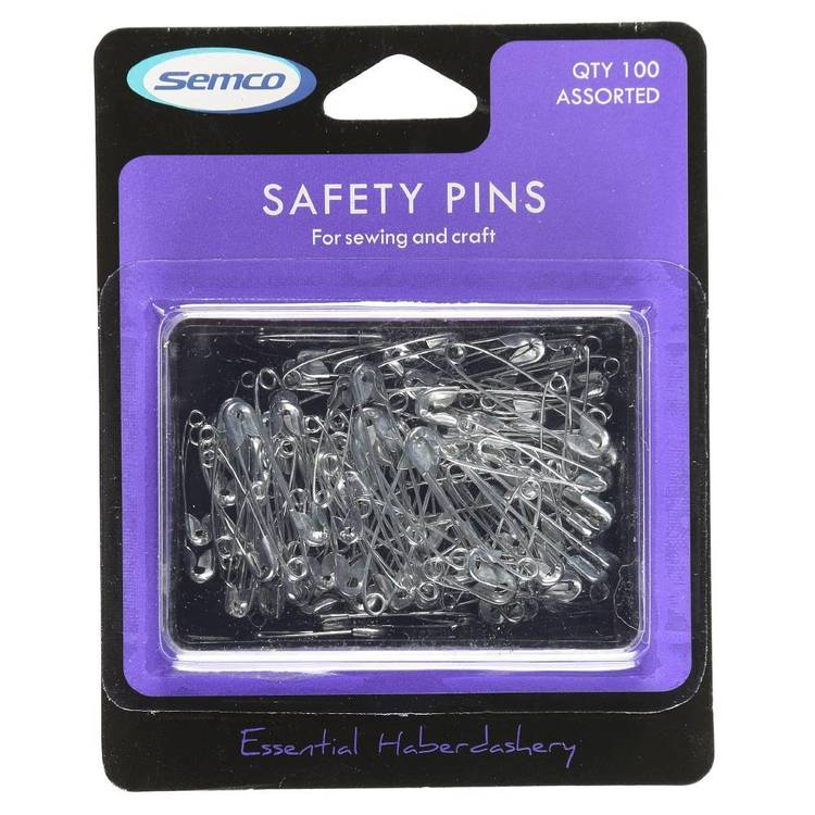 Semco Assorted Safety Pins Silver - Everyday Bargain
