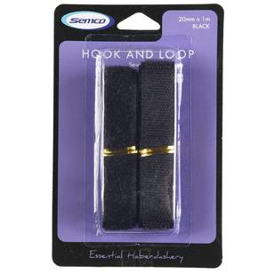 Semco 20mm x 1m Sew Hook & Loop - Everyday Bargain